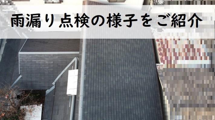 和泉市 雨漏り点検