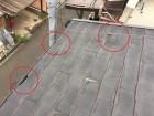 スレート屋根ひび割れ