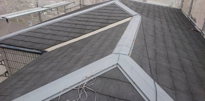 屋根葺き替え施工前