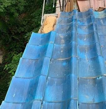 瓦屋根差し替え工事